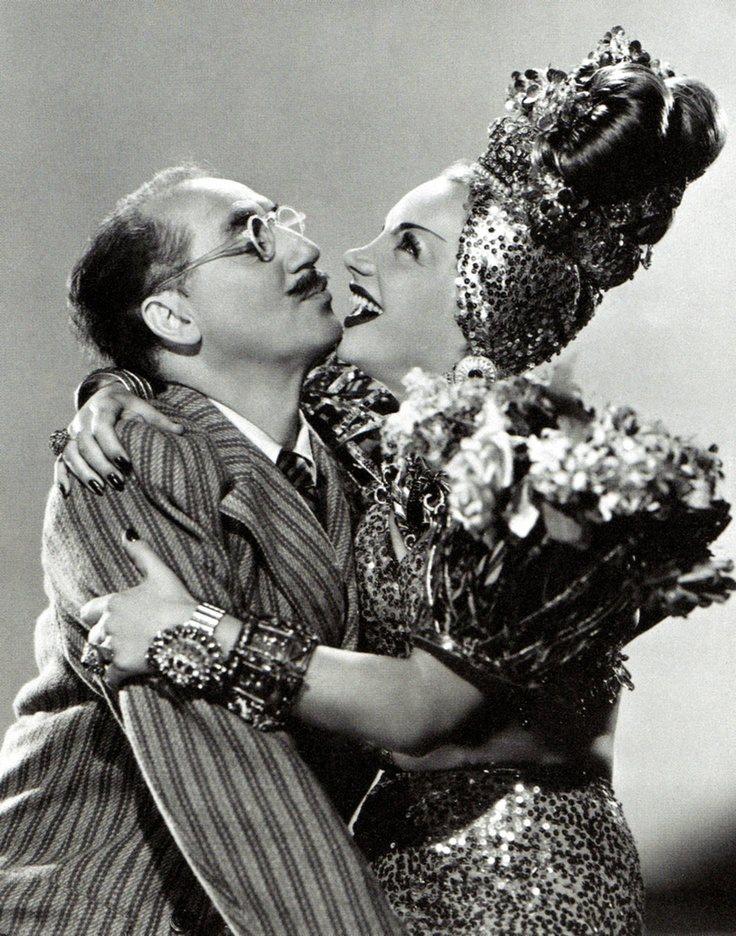 Groucho Marx with Carmen Miranda