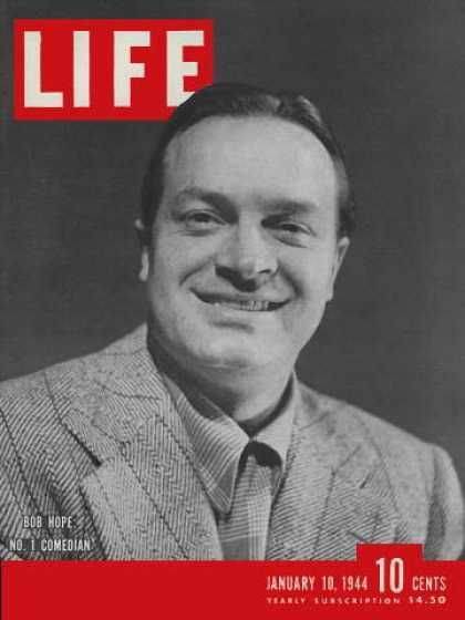 Bob Hope on the cover of Life Magazine, Jan 10th 1944