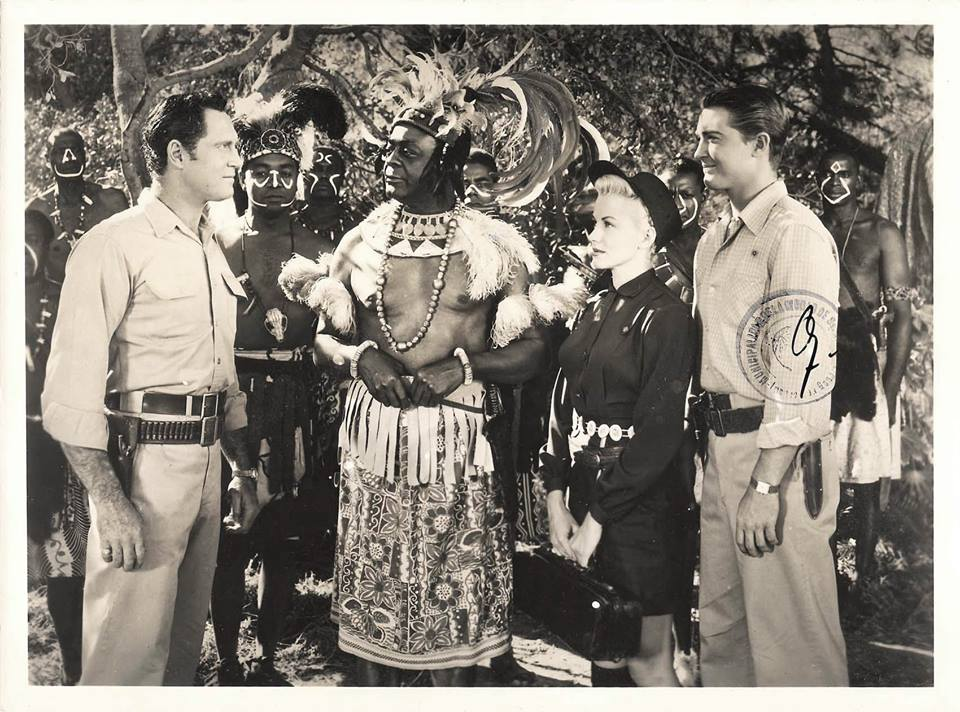JUNGLE DRUMS OF AFRICA (1953) Clay Moore, Roy Glenn, Phyllis Coates and Johnny Spencer