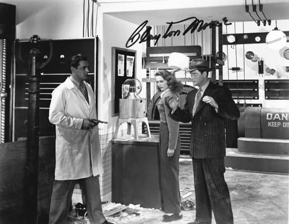 BLACK DRAGONS (1942) Joan Barclay and Clayton Moore.