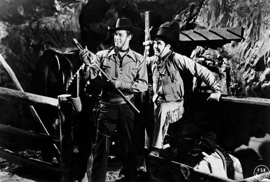 GHOST OF ZORRO (1949) Clayton Moore and George J. Lewis