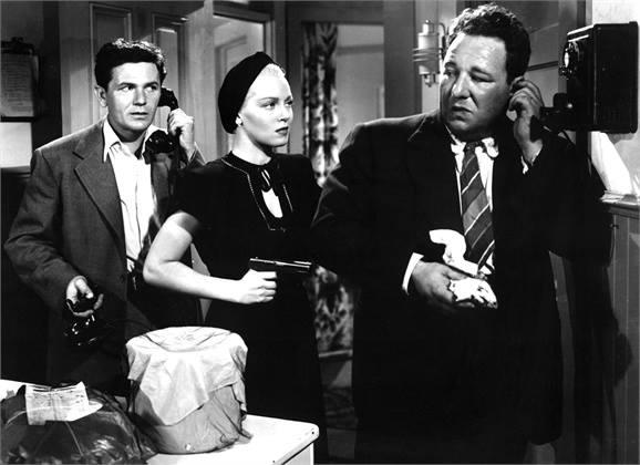 John Garfield, Lana Turner and Alan Reed