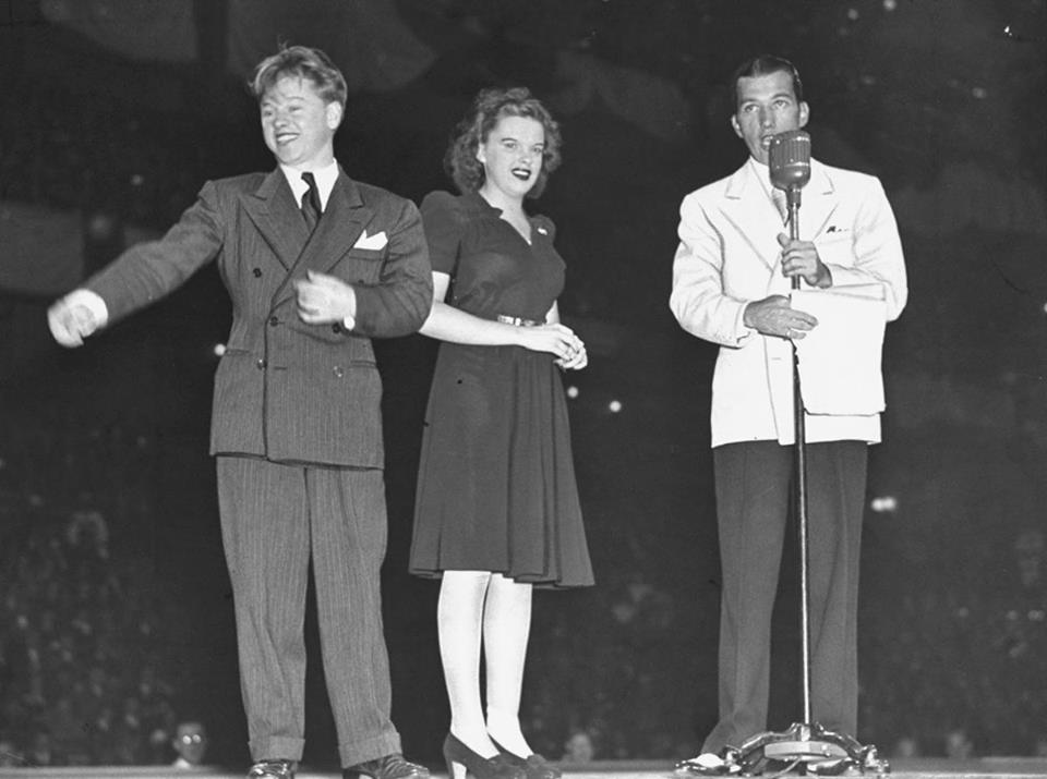Mickey Rooney, Judy Garland and Ed Sullivan