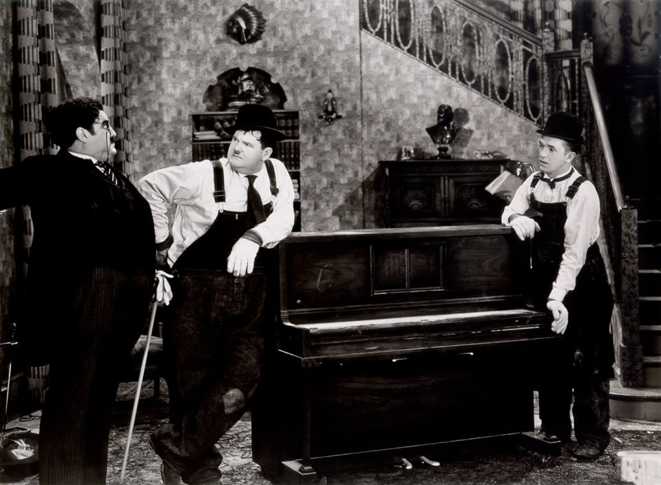 Billy Gilbert, Oliver Hardy and Stan Laurel