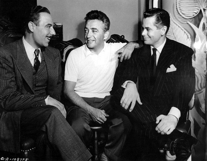 Joseph Calleia, Charles Vidor and Glenn Ford