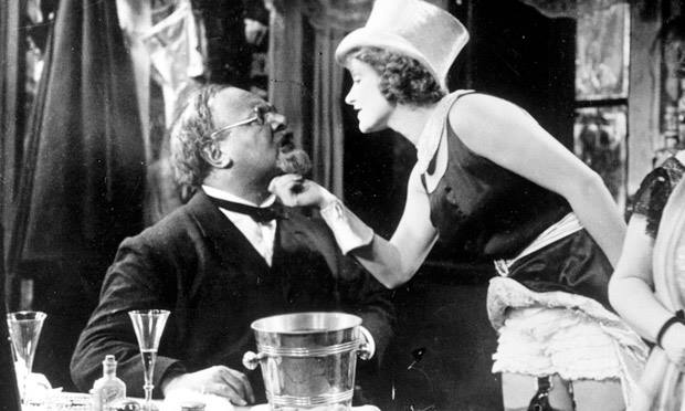 Emil Jannings and Marlene Dietrich