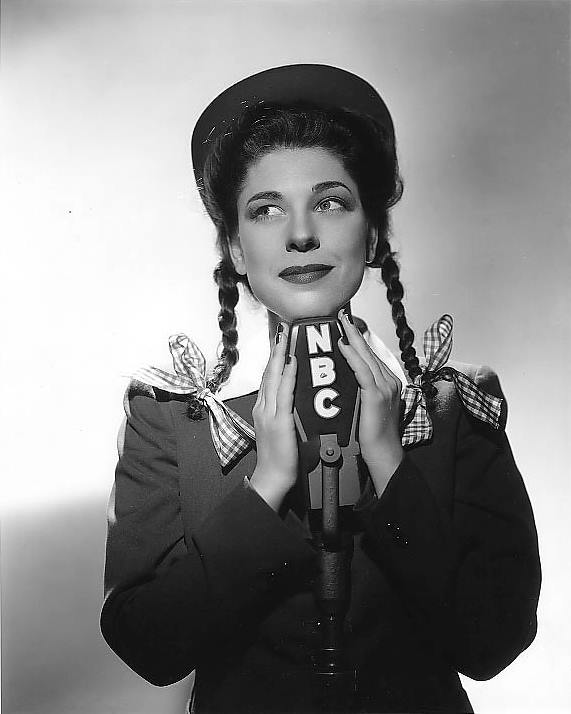 Judy Canova...star of vaudeville, movies, radio and television delighted audiences from the thirties to the seventies. Her first husband was hayseed radio comic Bob Burns, a marriage that lasted from 1936-1939. In 1943, she began her own radio program,