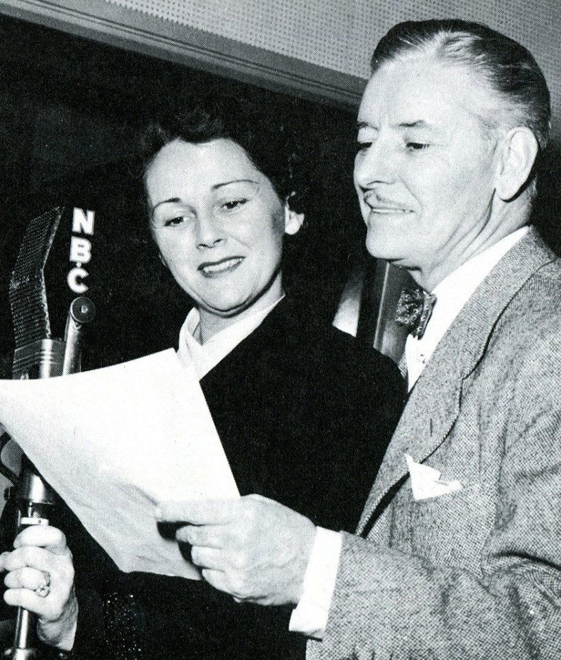 Benita Hume with fellow actor Ronald Colman