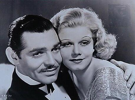 Clark Gable with Jean Harlow.