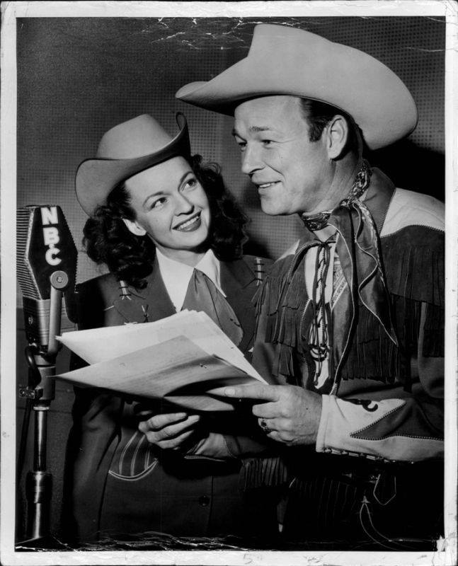 Dale Evans with her husband Roy Rogers.