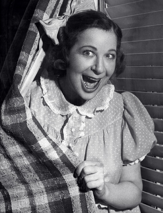 Fanny Brice in the role of Baby Snooks, 1940.