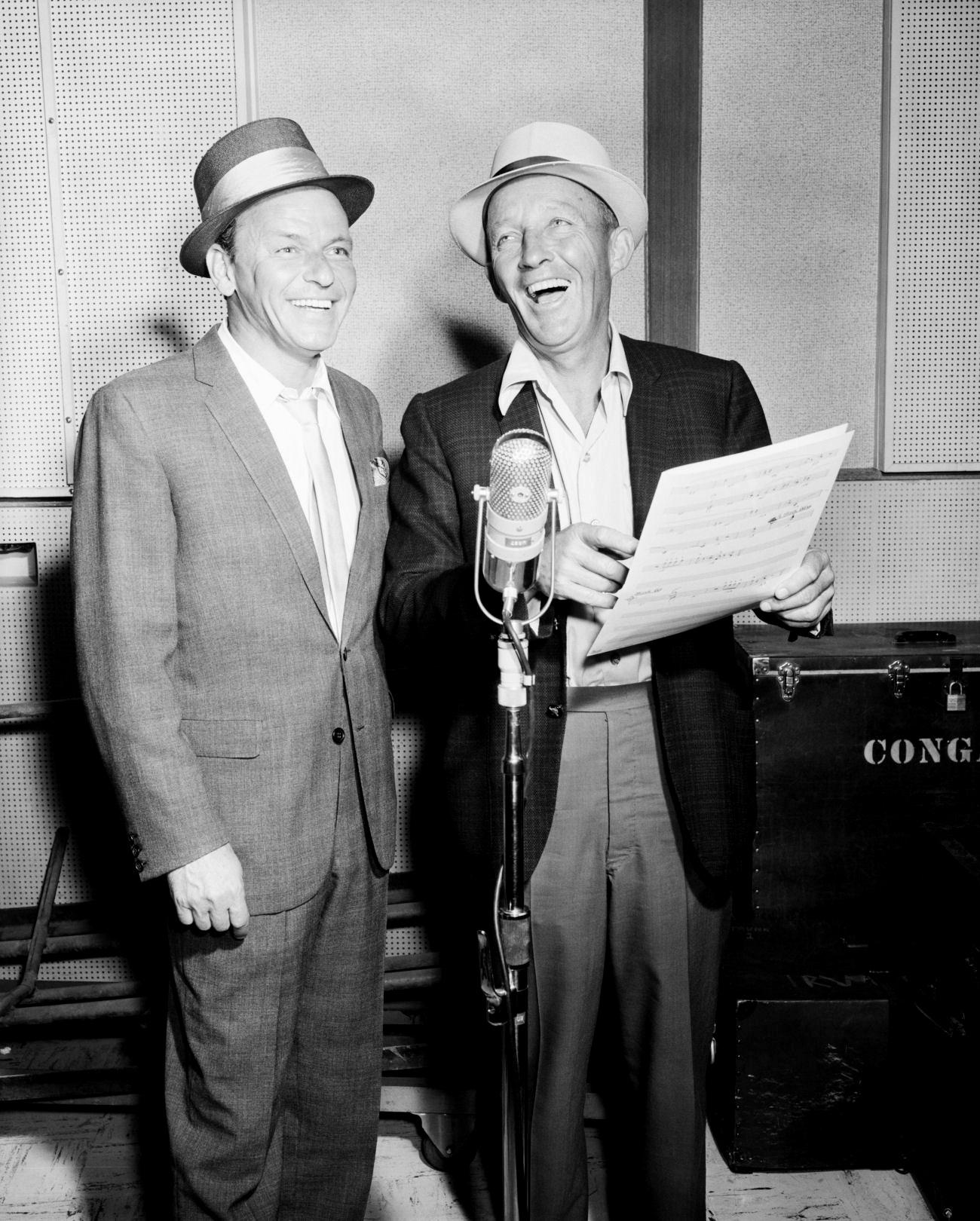 Bing Crosby with Frank Sinatra