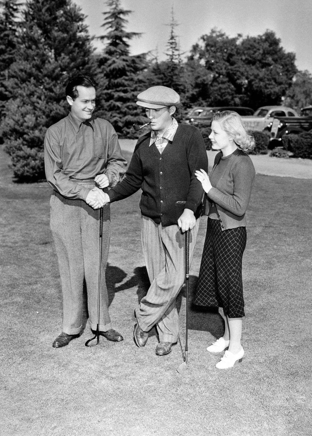 Bob Hope Bing Crosby and Mary Carlisle