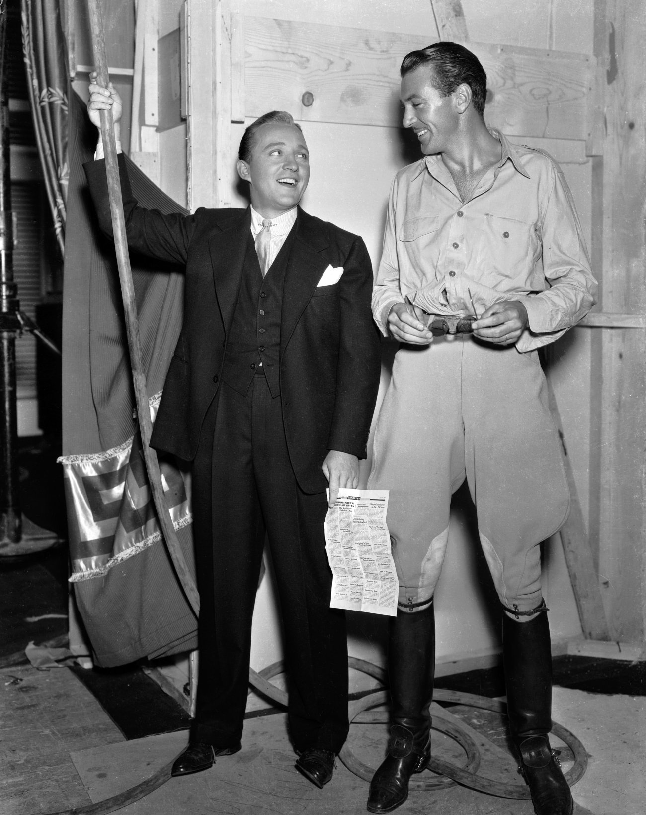 Bing Crosby With Gary Cooper