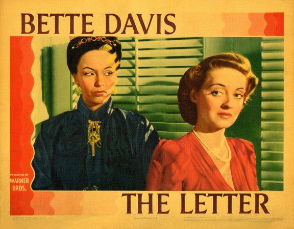 William Wyler's THE LETTER, starring Bette Davis
