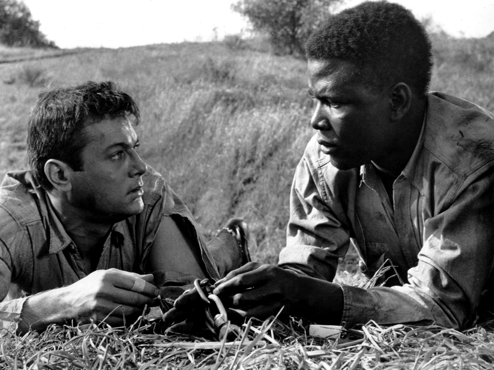 Tony Curtis with Sidney Poitier