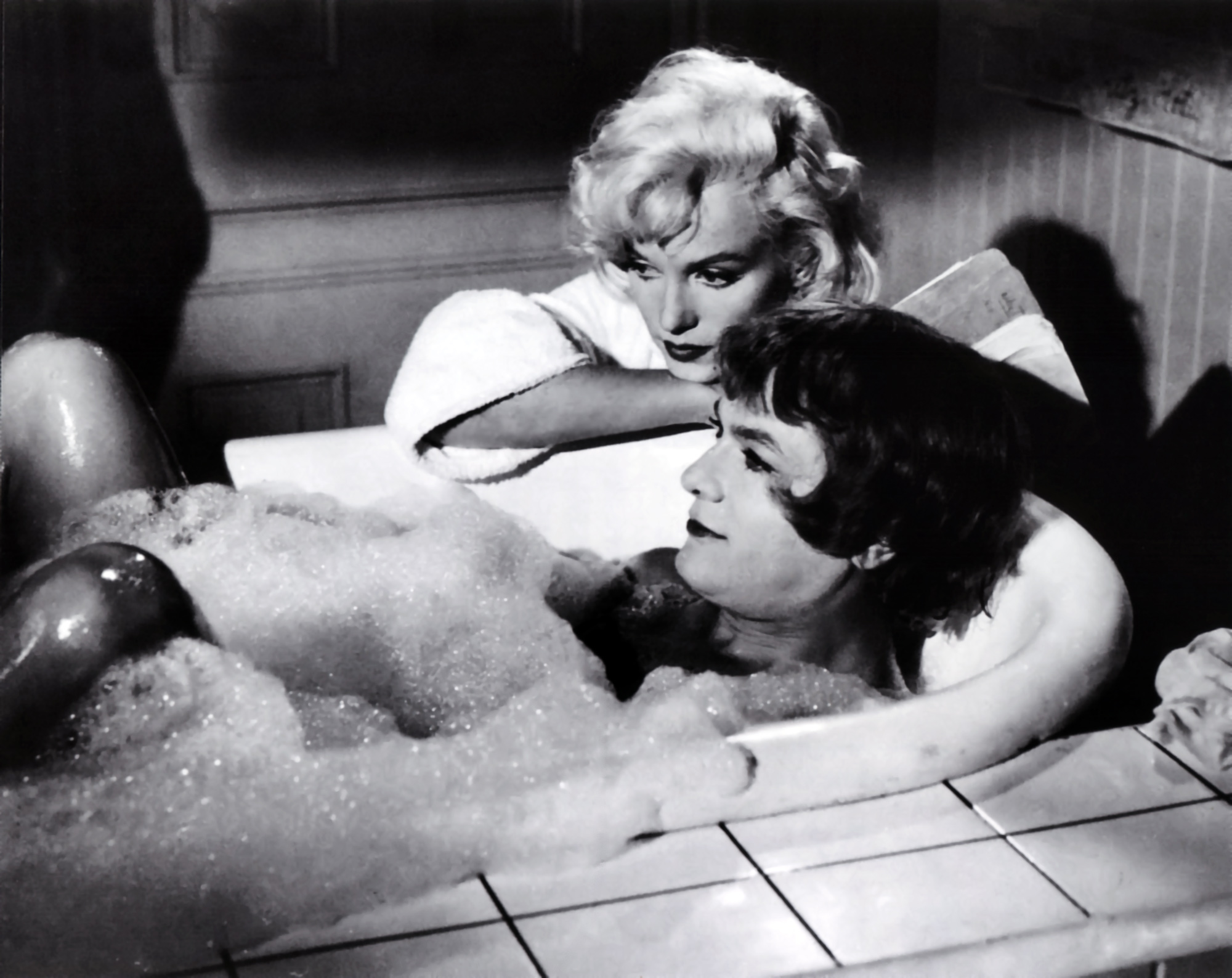 Tony Curtis with Marilyn Monroe