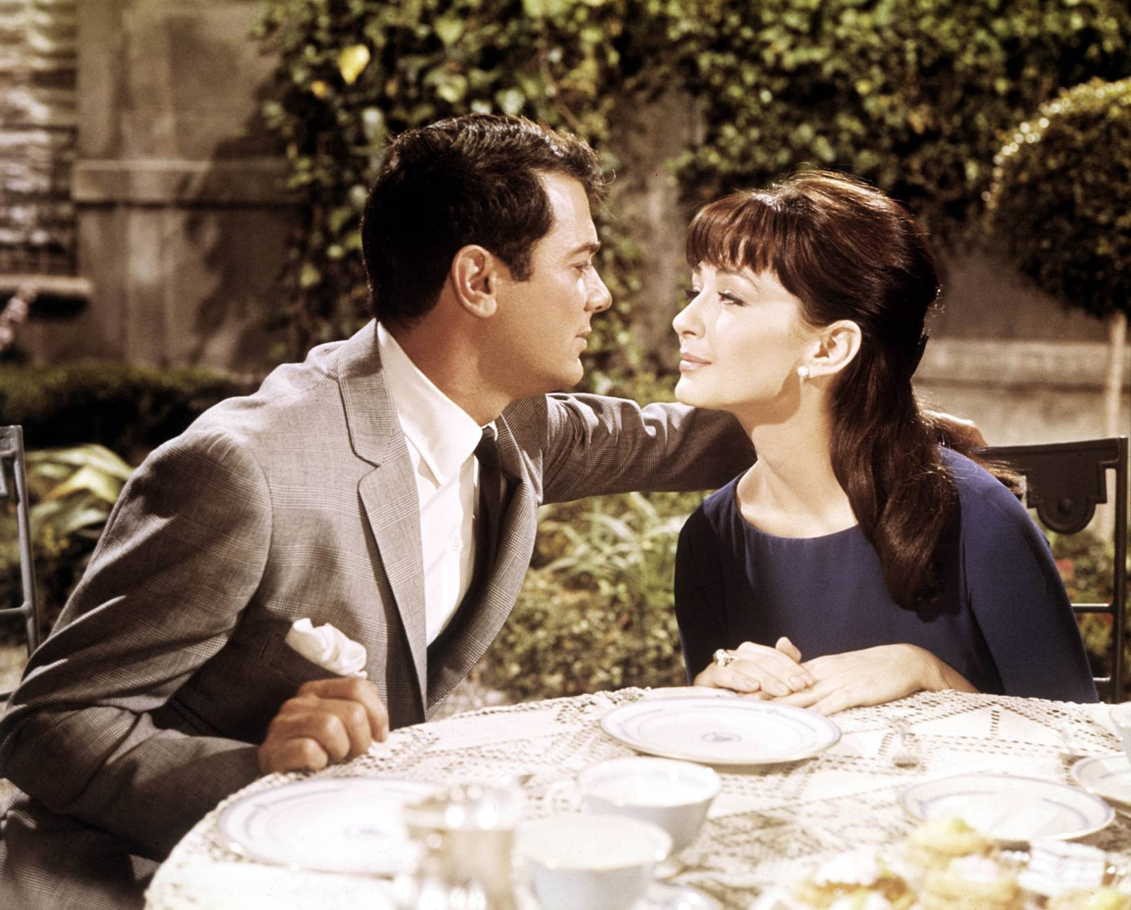 Tony Curtis with Christine Kaufmann