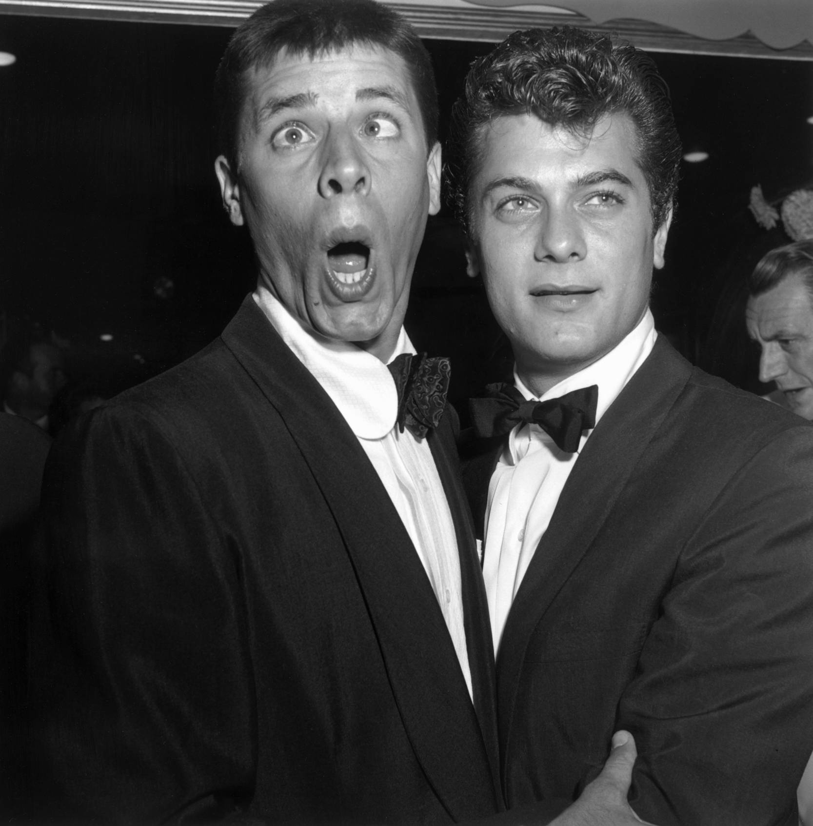 Tony Curtis with  Jerry Lewis