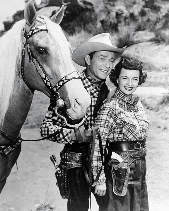 Dale Evans and Roy Rogers.