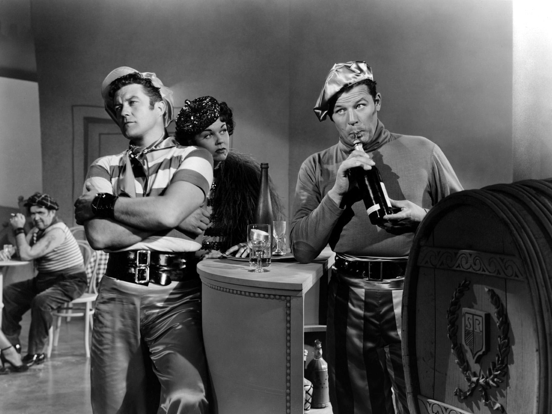 Dennis Morgan, Doris Day, Jack Carso