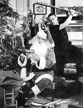 This is a promo photo of Peter Lorre and The Man in Black for the Suspense episode Back For Christmas.