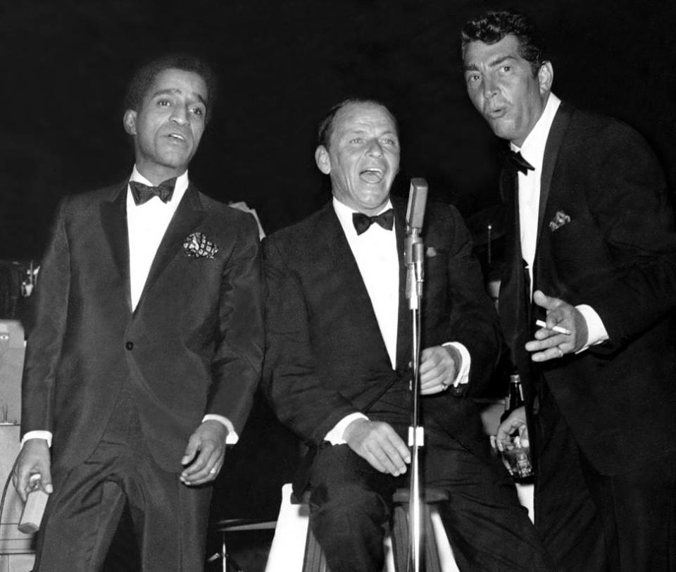 Sammy Davis Jr.with Dean Martin and Frank Sinatra.