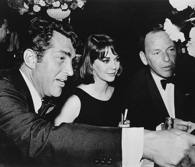 Dean Martin with Natalie Wood and Frank Sinatra