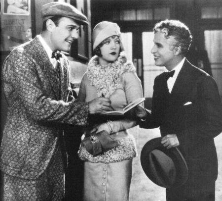 Charlie Chaplin makes an appearance in the 1928 film Show People, with William Haines and Marion Davies.