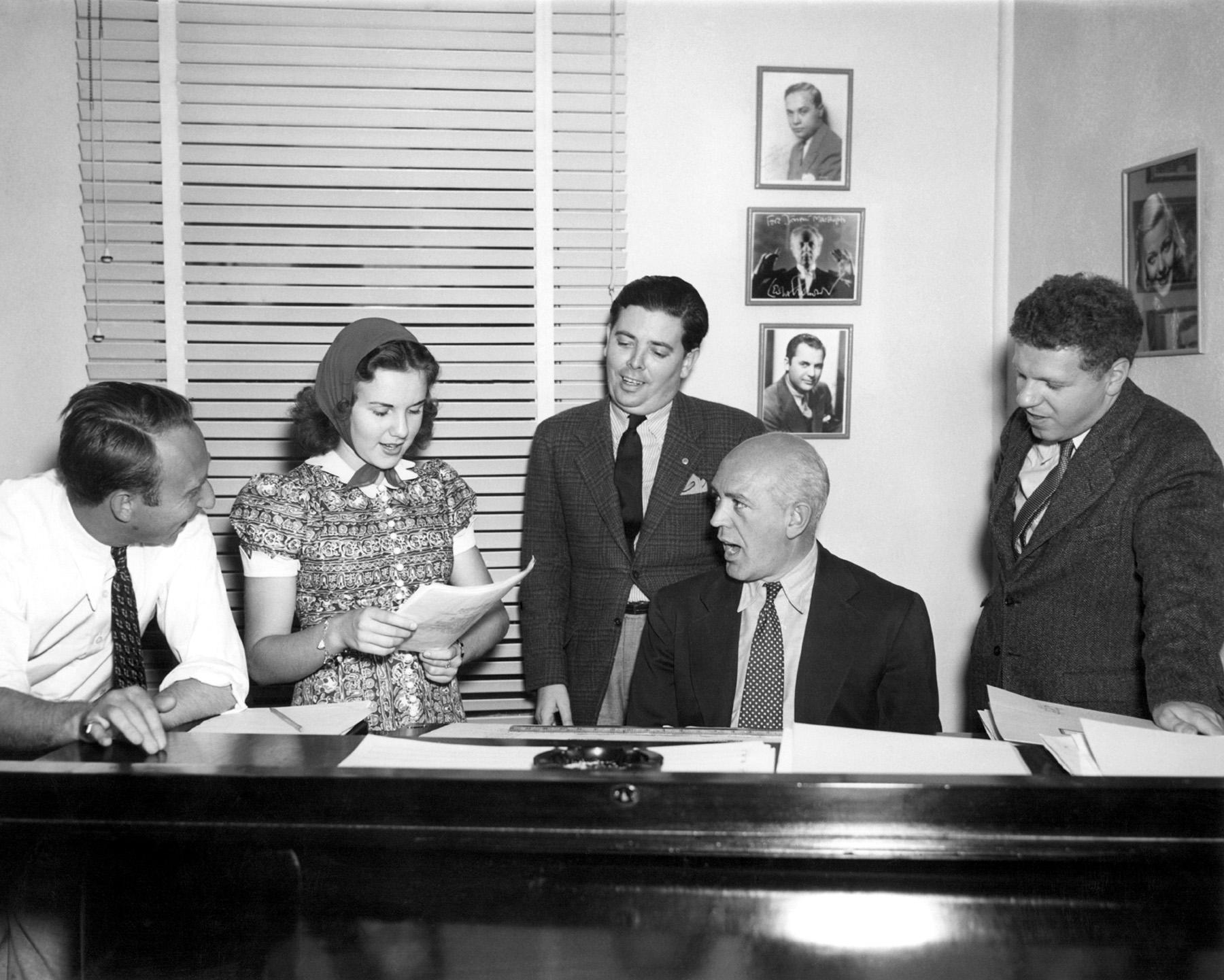 joe Pasternak, Deanna Durbin, Harold Adamson, Jimmy McHugh, Charles Henderson