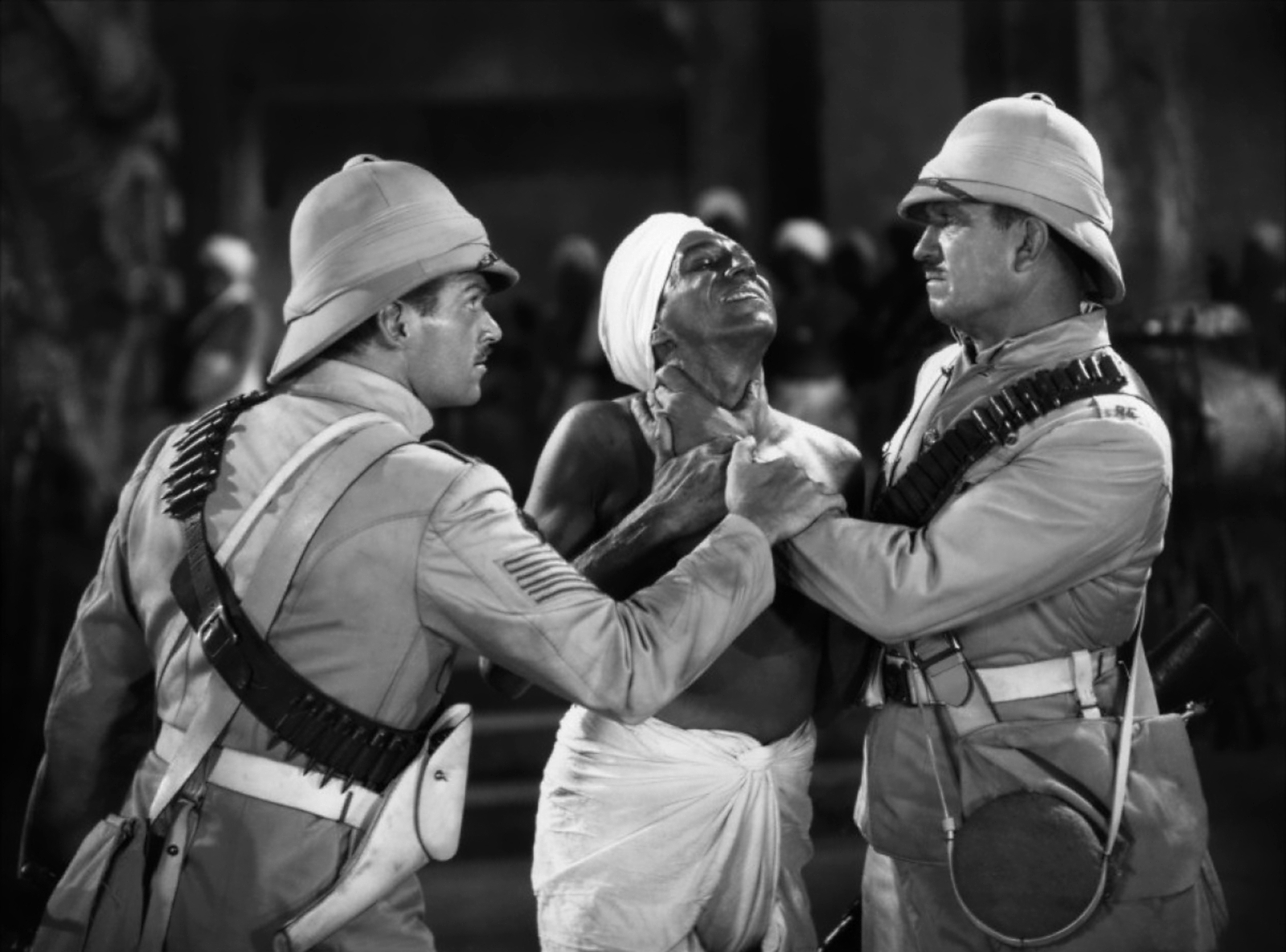 Douglas Fairbanks, Jr wih Sam Jaffe and Victor McLaglen