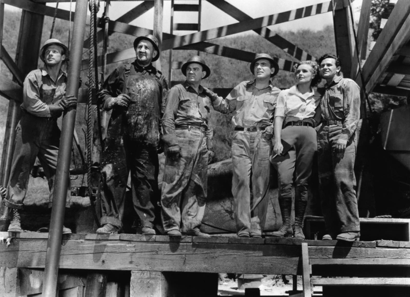 Frances Farmer with Tom Kennedy, Cliff Edwards, Pat O'Brien, Frances Farmer, John Garfield