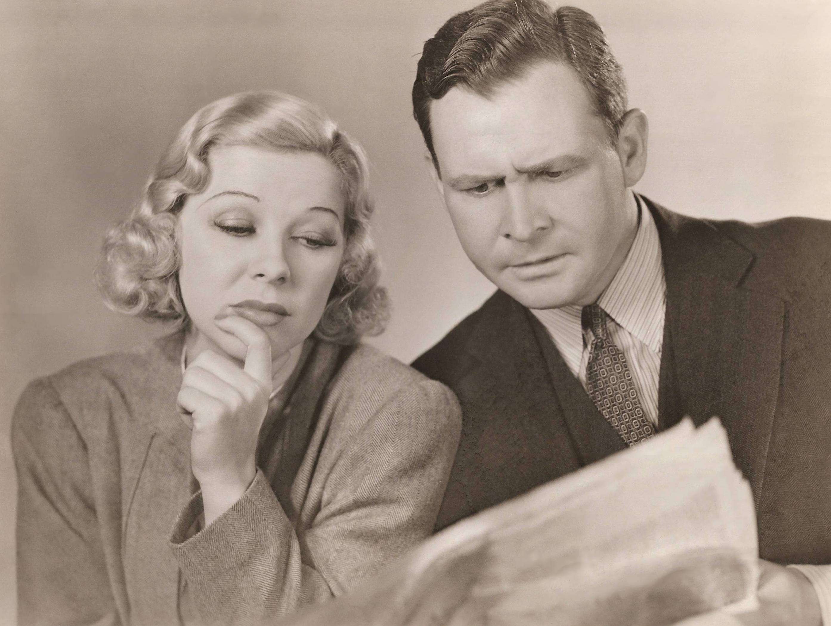 Glenda Farrell With Barton MacLane