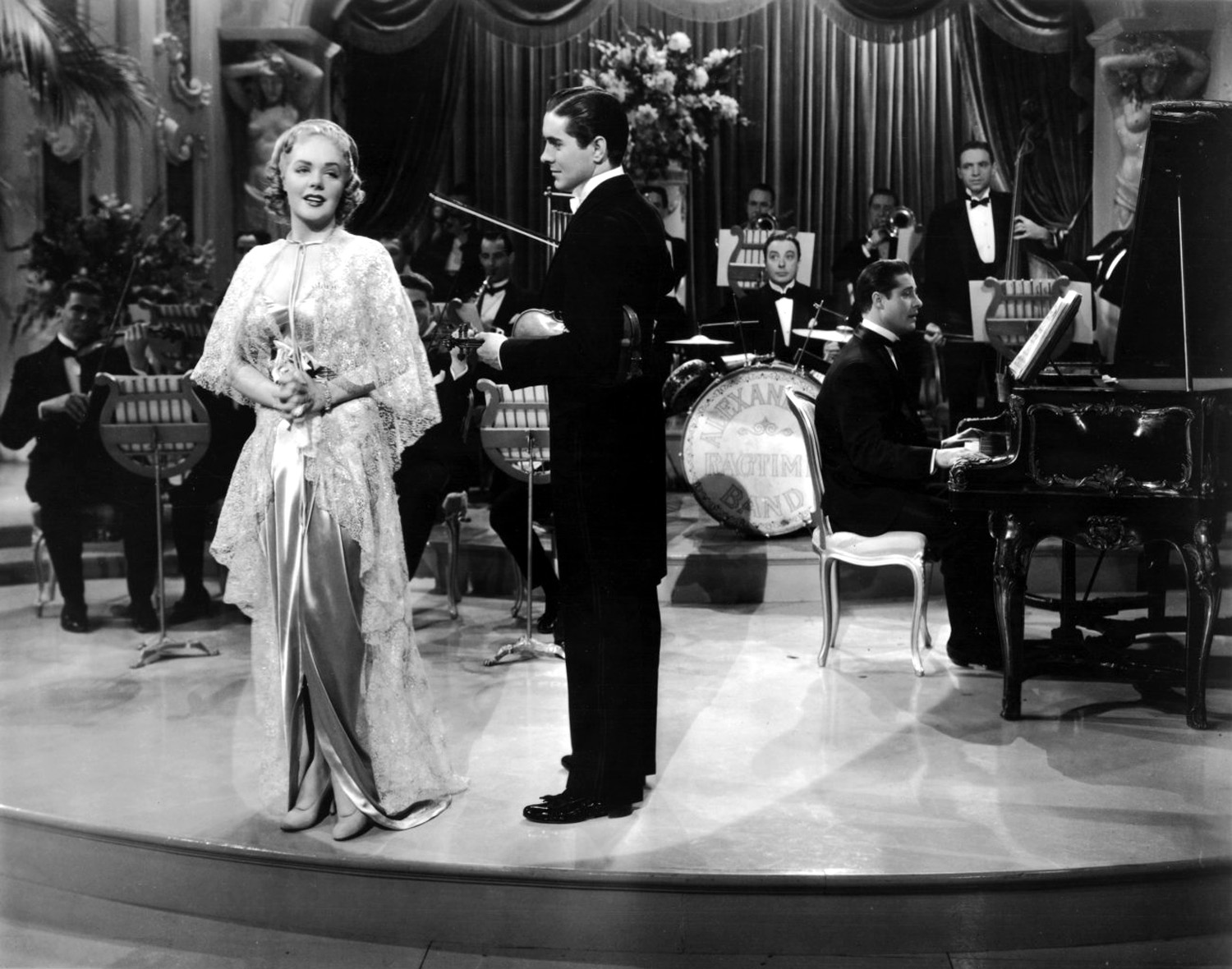 Alice Faye with Tyrone Power, Jr.and Don Ameche