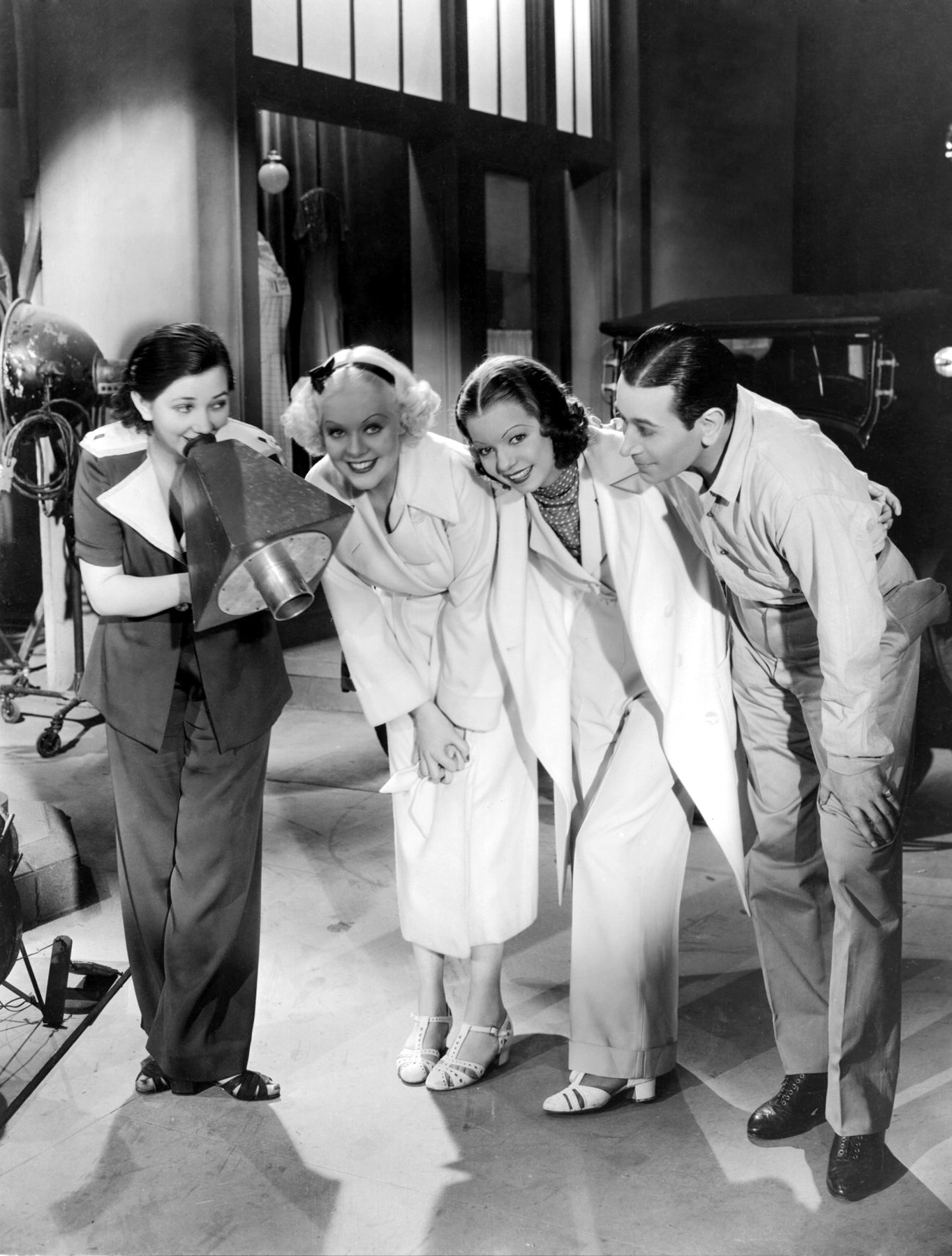 Alice Faye with Frances Langford, George Raft and Patsy Kelly,