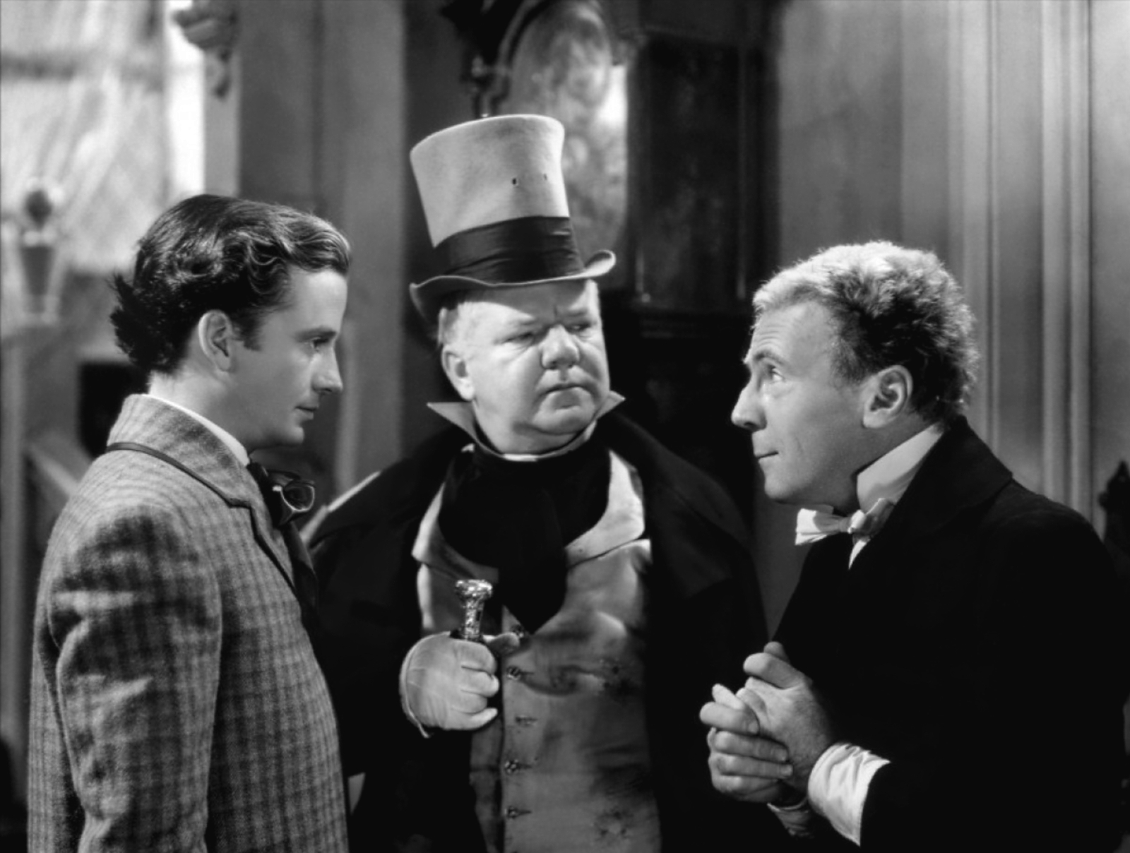 W C. Fields with Frank Lawton and Roland Younng.