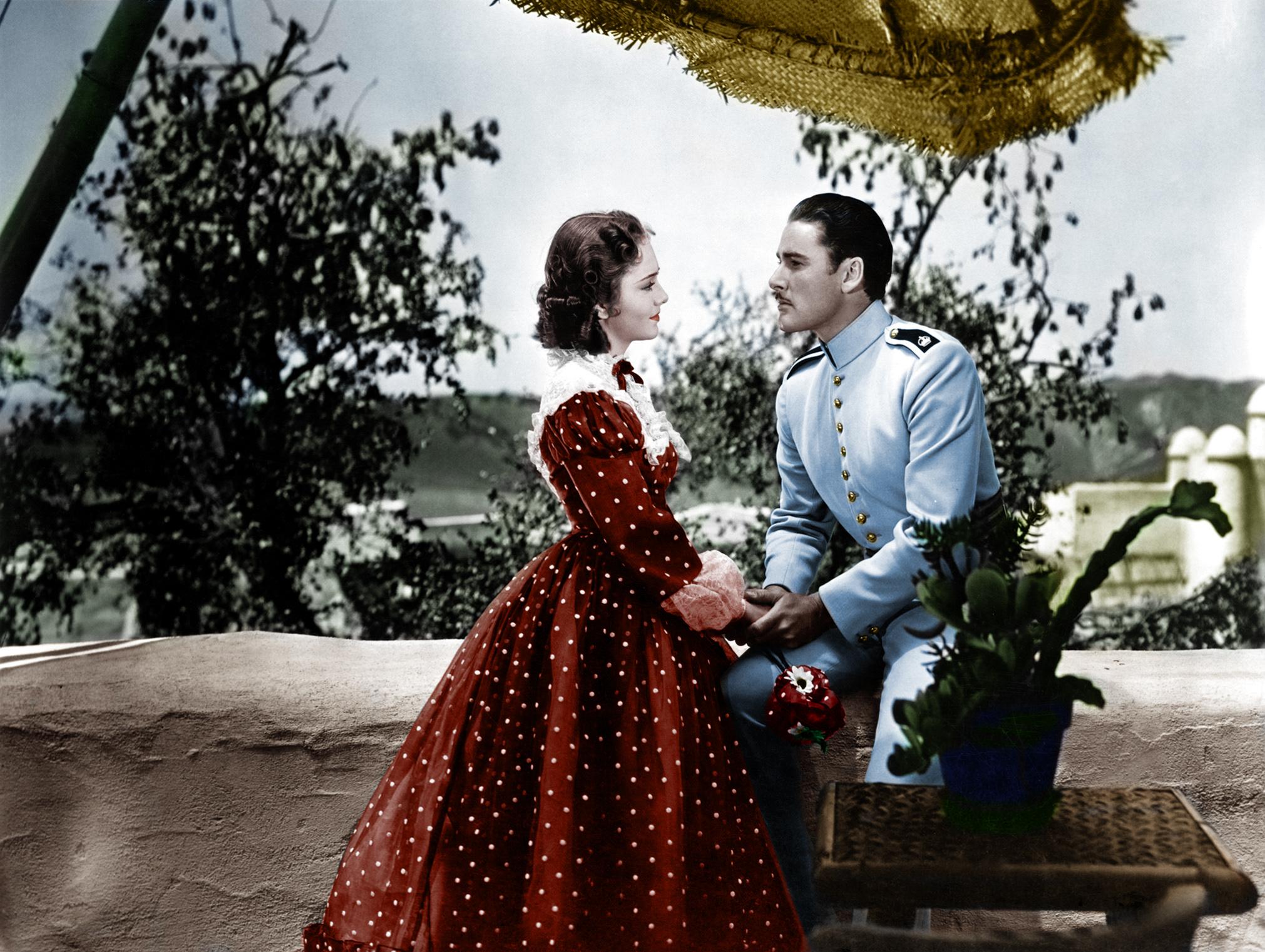 Errol Flynn With Olivia de Havilland