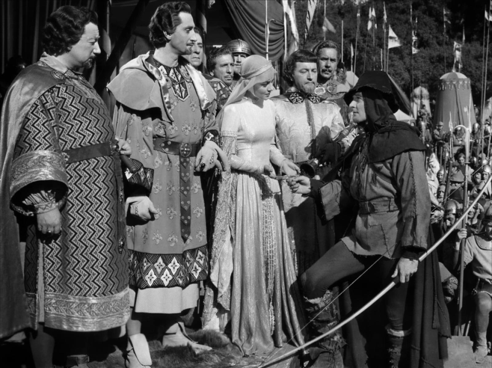 Melville Cooper, Basil Rathbone, Olivia de Havilland, Claude Rains, Errol Flynn