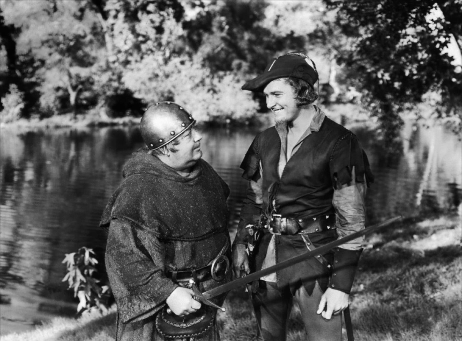 Errol Flynn with Eugene Pallette