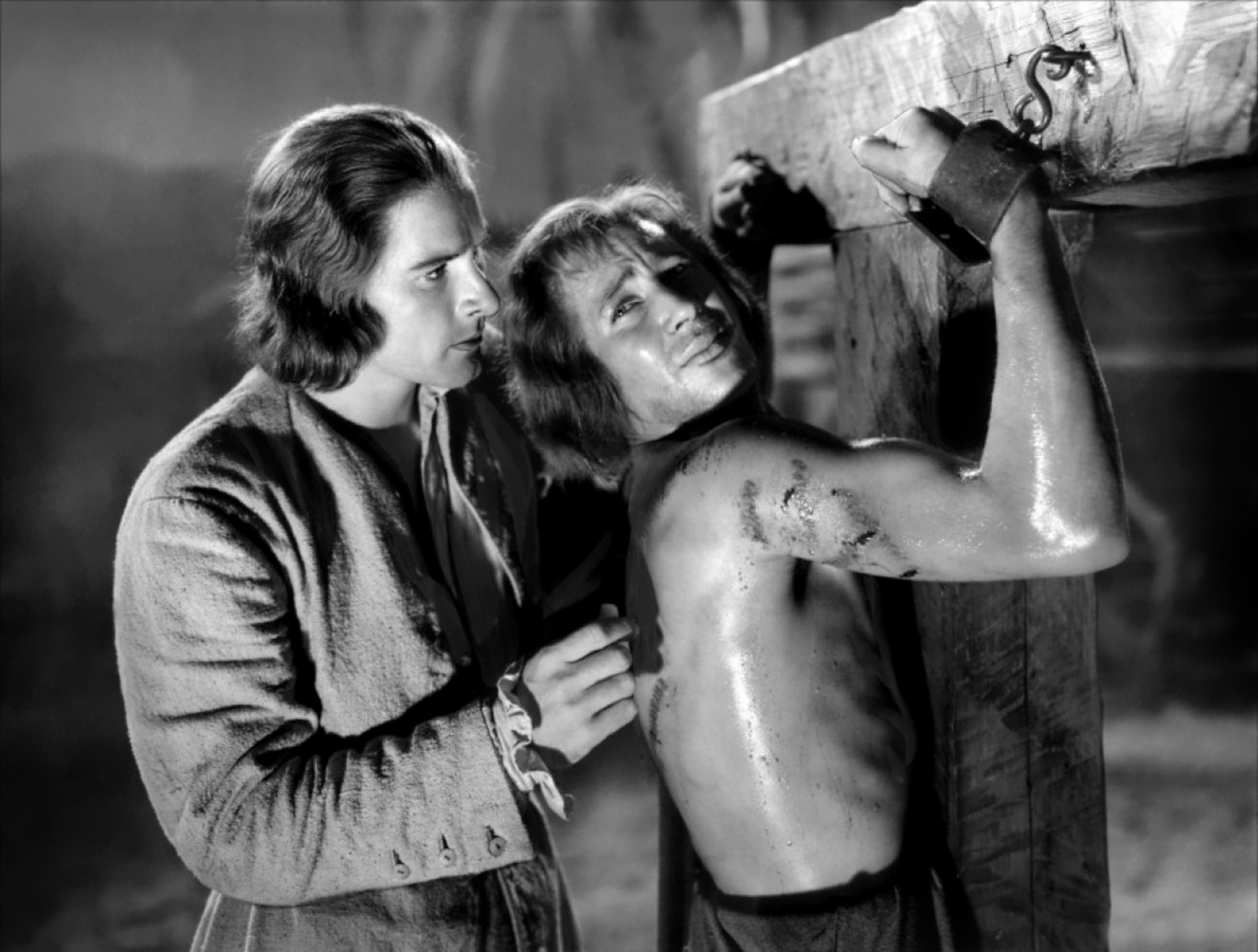 Errol Flynn with Ross Alexander