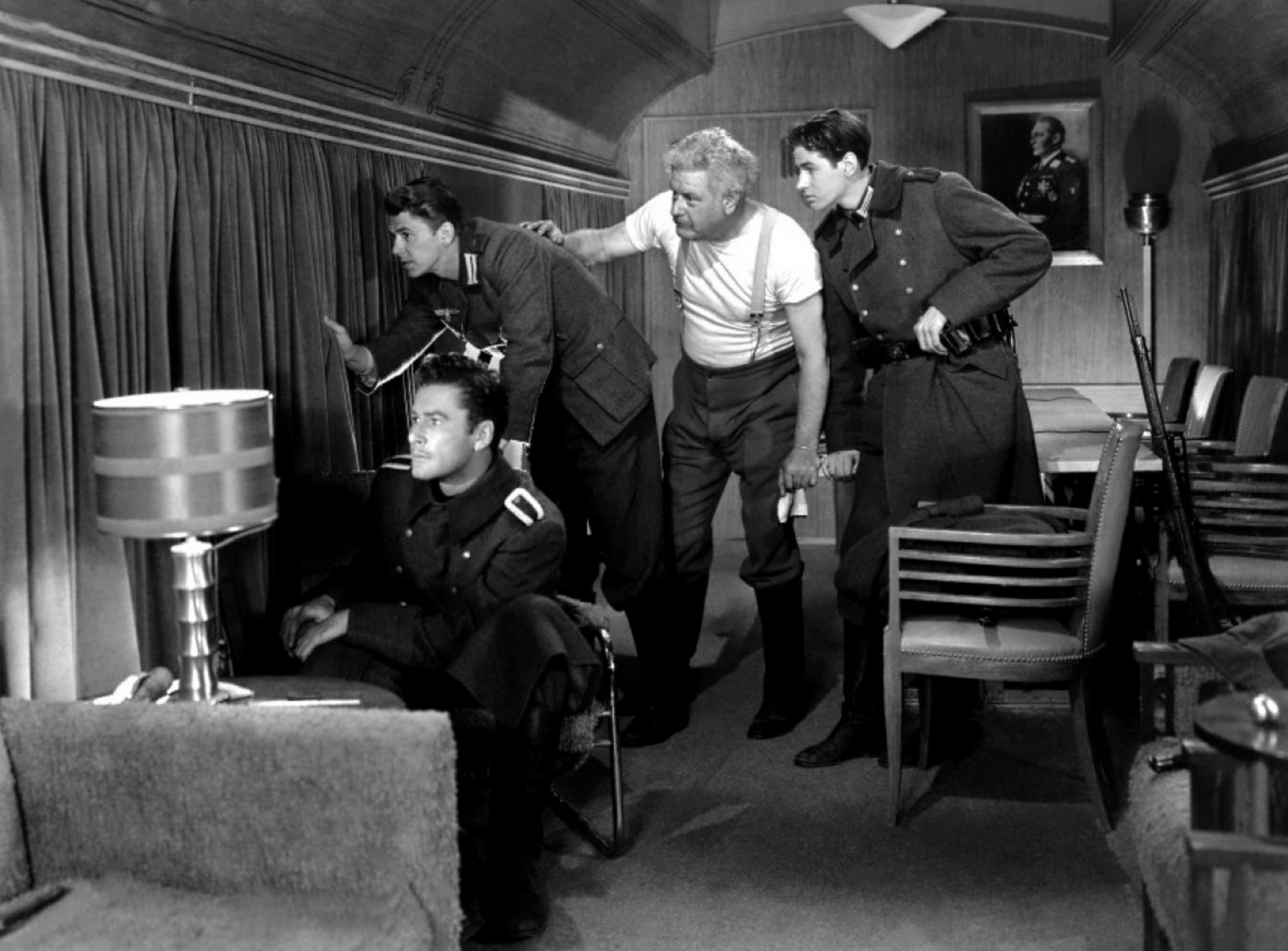 Errol Flynn, Ronald Reagan, Alan Hale, Sr., Ronald Sinclair