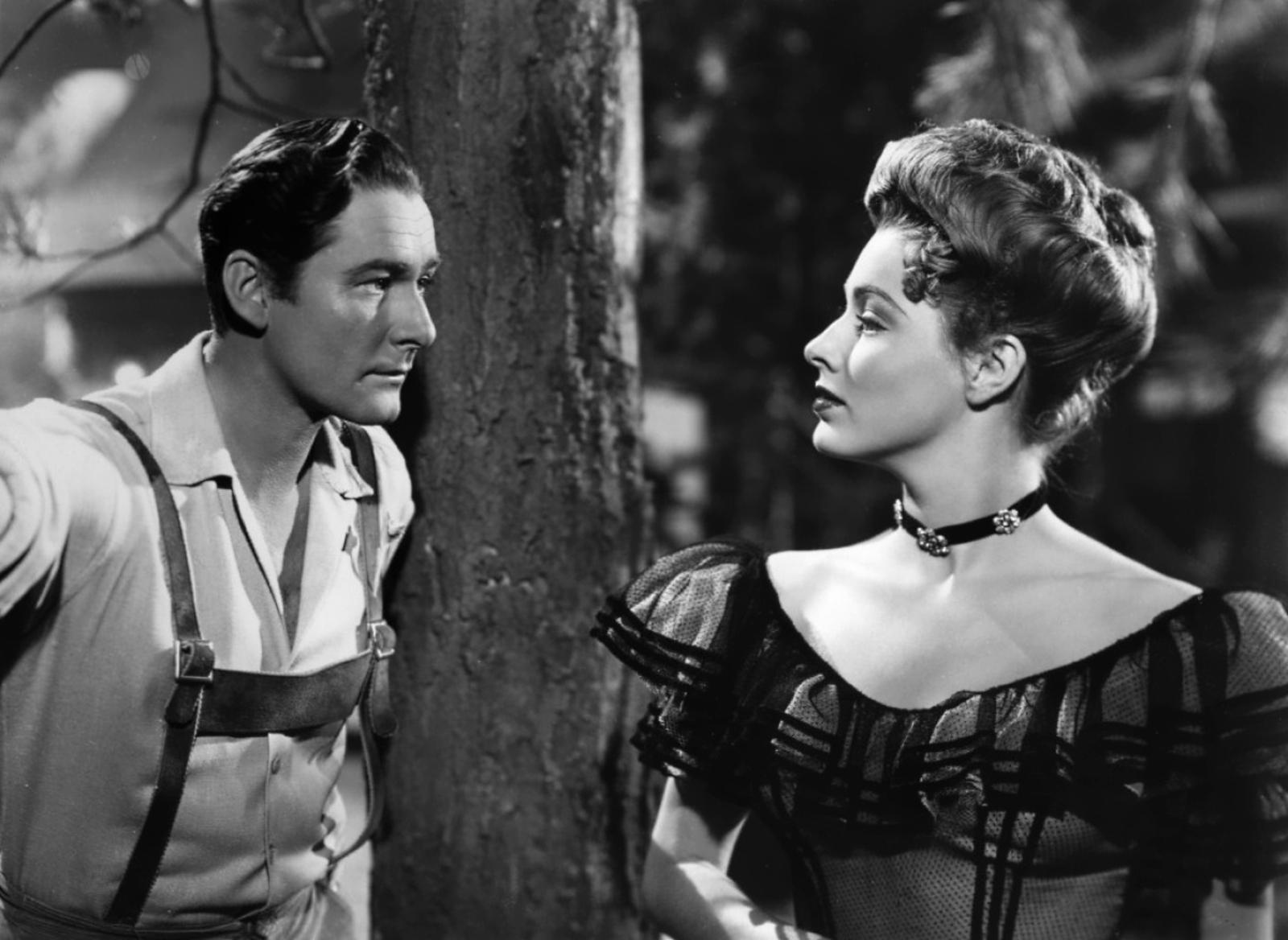 Errol Flynn With Eleanor Parker