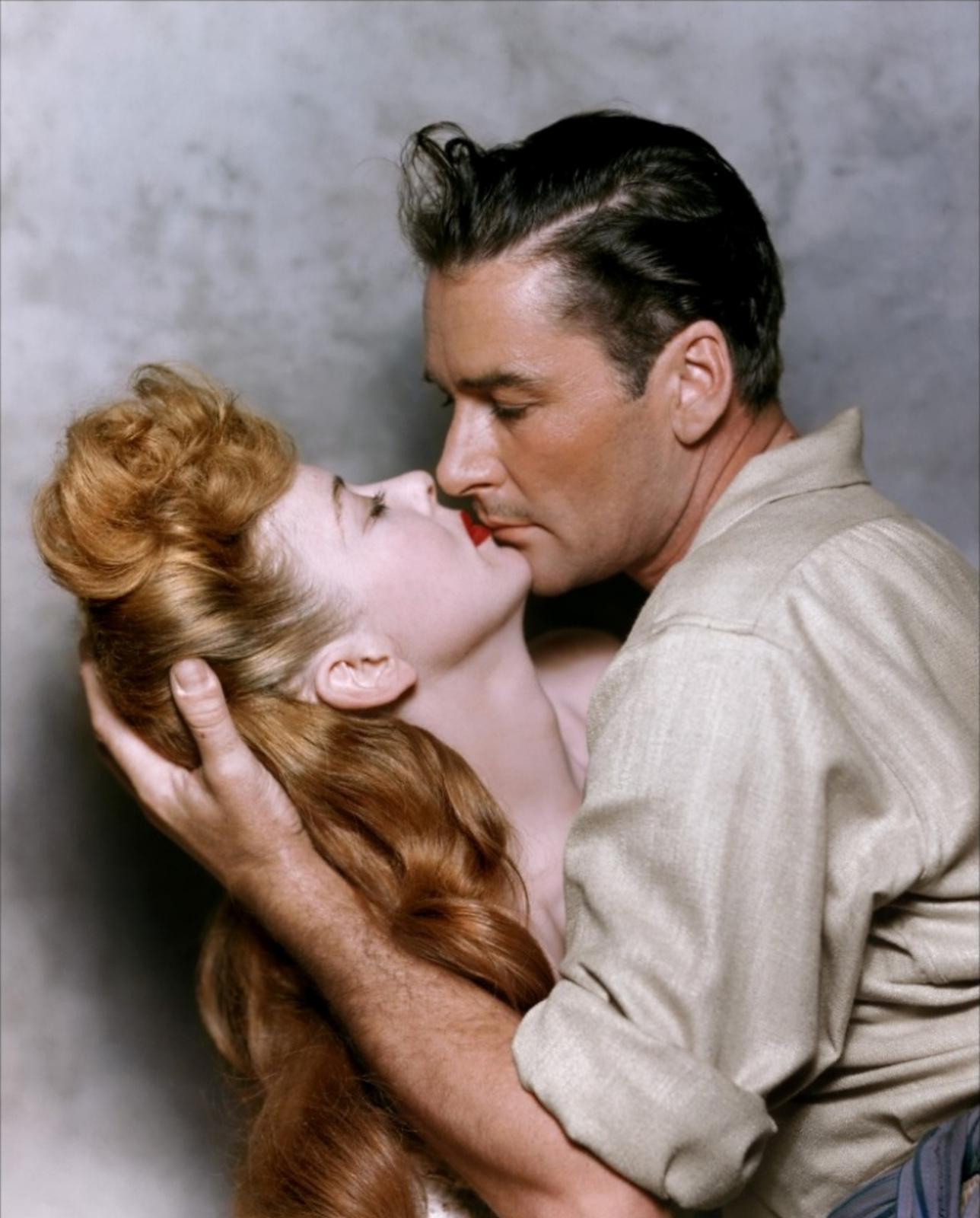 Errol Flynn With Ida Lupino