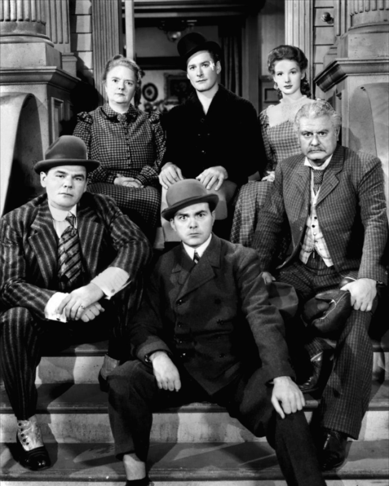 Errol Flynn With Alan Hale, Sr. (R), Dorothy Vaughn