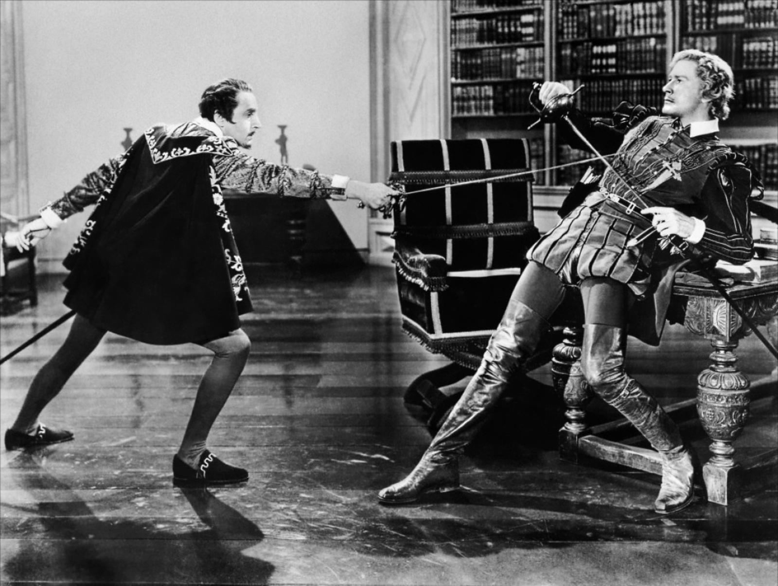 Errol Flynn With Henry Daniell