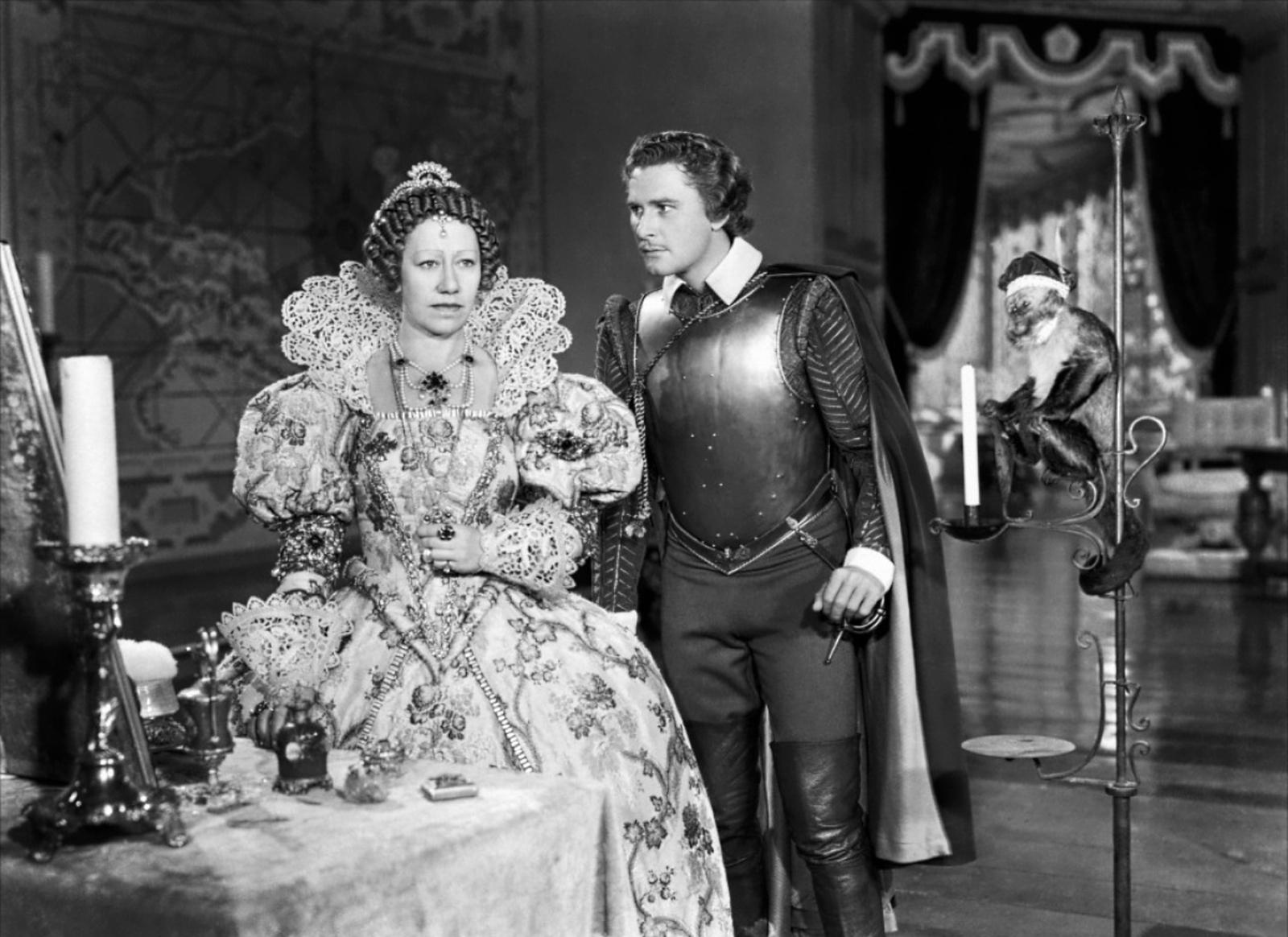 Errol Flynn With Flora Robson