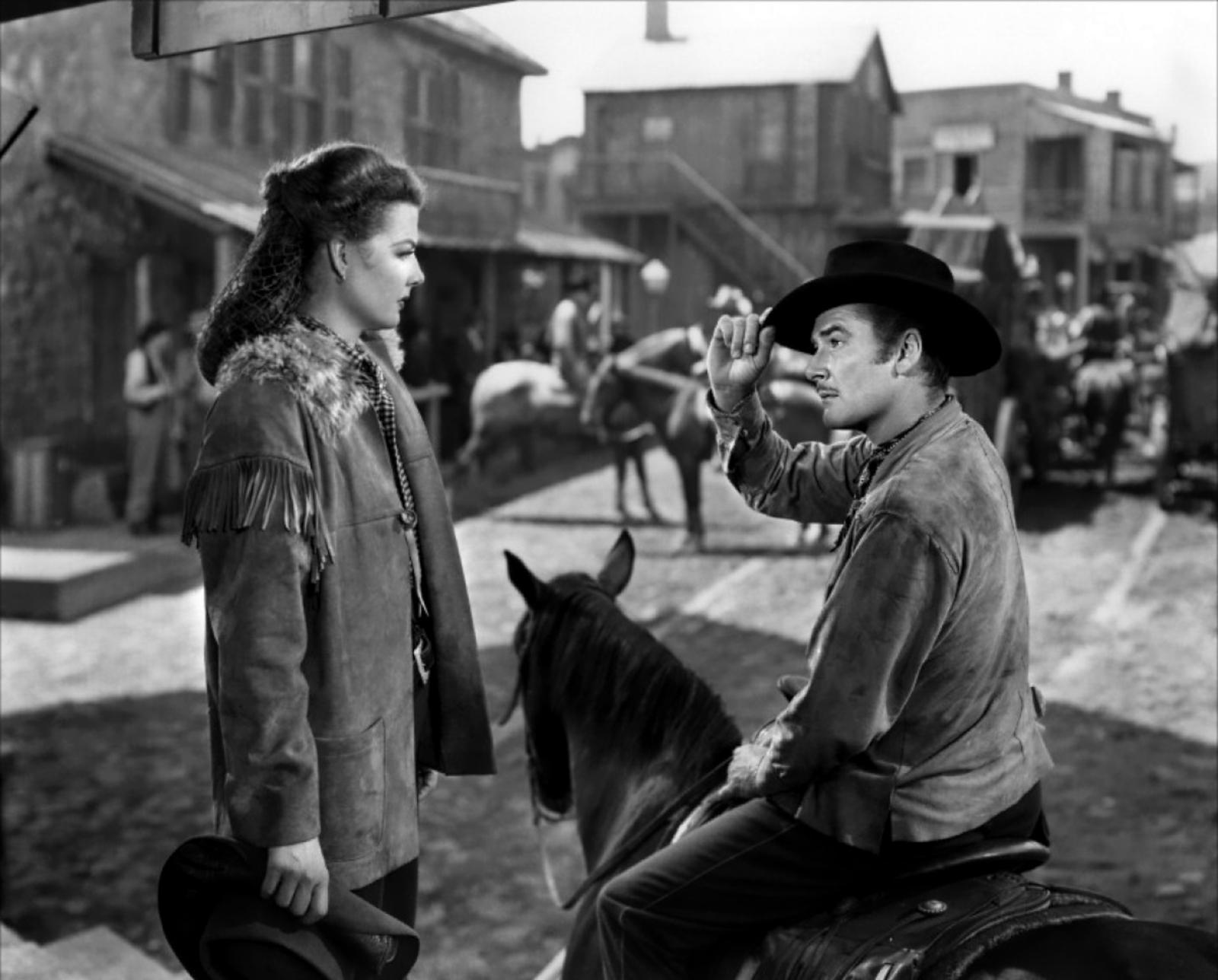 Errol Flynn With Ann Sheridan