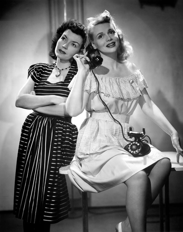 Marie Wilson and Cathy Lewis
