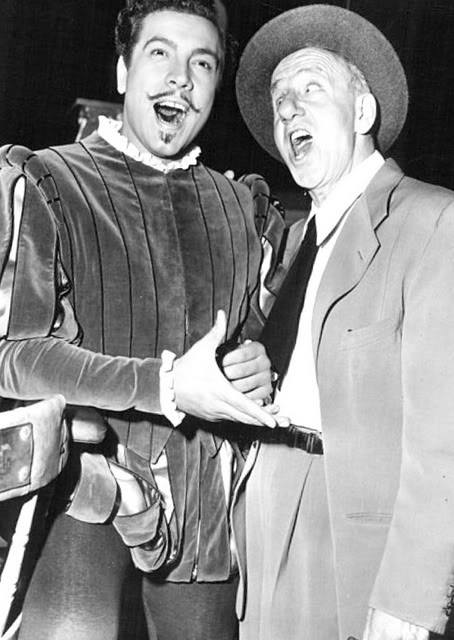 Mario Lanza joins Jimmy Durante.