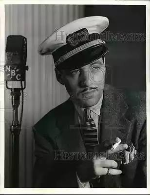 Gerald Mohr in an NBC Radio publicity photo from 1940. He portrayed a French sea captain.